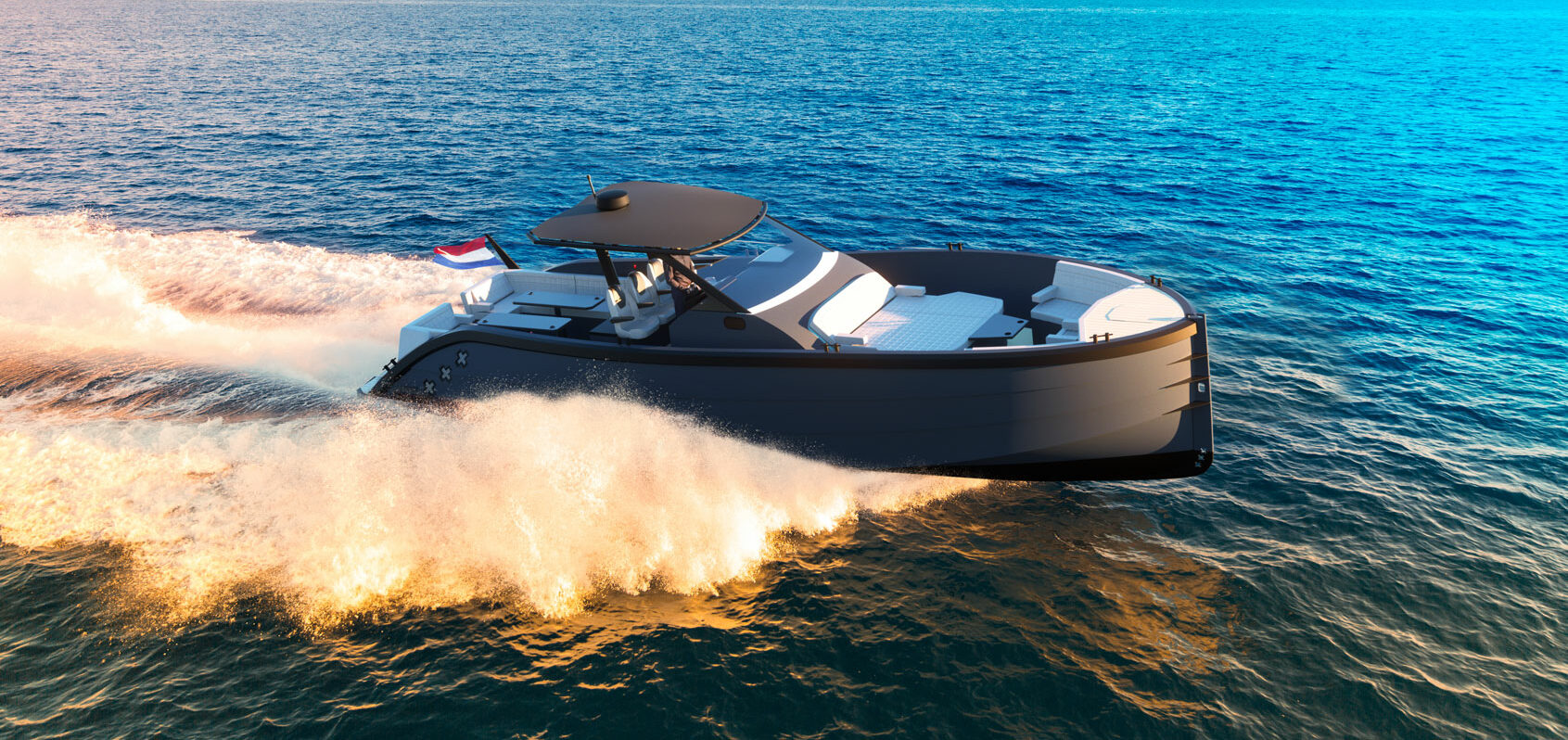 Full speed ahead with the newest model of LEKKER BOATS